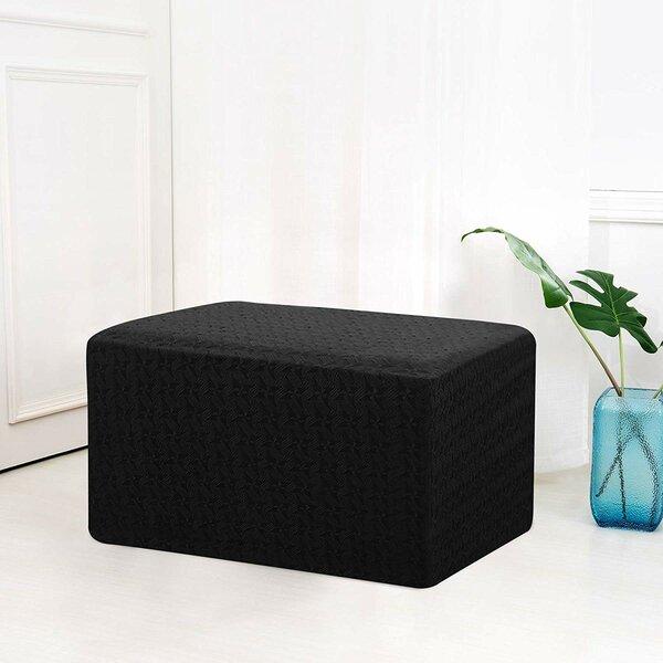 Review Windmill Jacquard Oversized Box Cushion Ottoman Slipcover