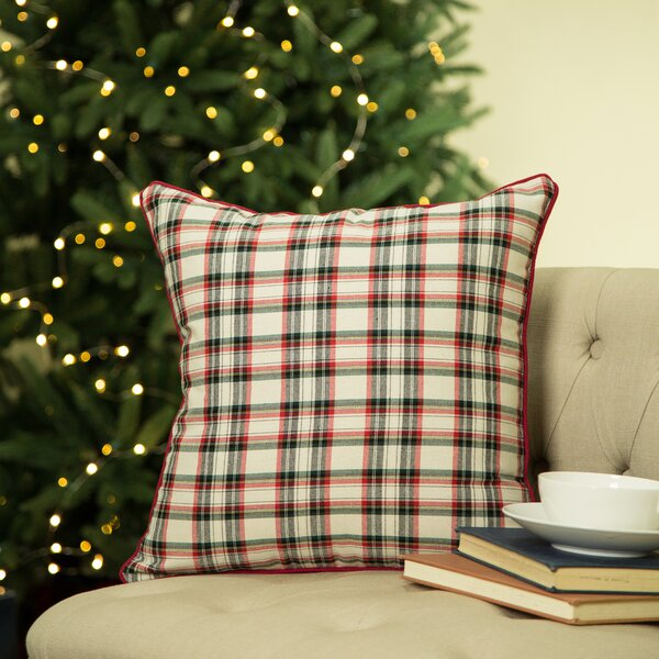 Plaid Pillow Cover by Glitzhome