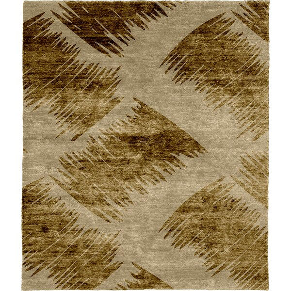 One-of-a-Kind Munch Hand-Knotted Beige 8' x 10' Wool Area Rug