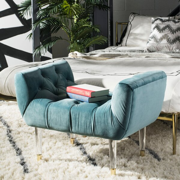 Dunnottar Tufted Upholstered Bench by Ivy Bronx