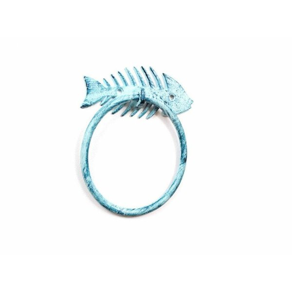 Cast Iron Fish Bone Towel Ring by Handcrafted Nautical Decor