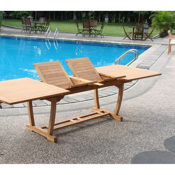 Ohlone Luxurious 9 Piece Teak Dining Set by Rosecliff Heights