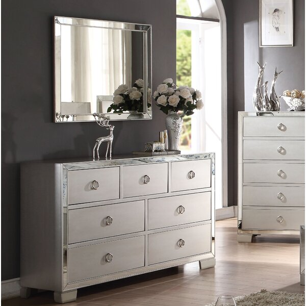 Isai 7 Drawer Double Dresser with Mirror by Rosdorf Park