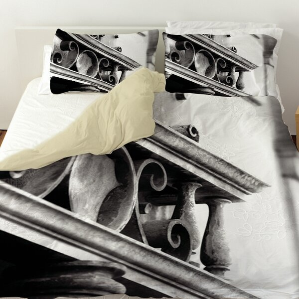 Urban Detail Scroll Duvet Cover by Manual Woodworkers & Weavers