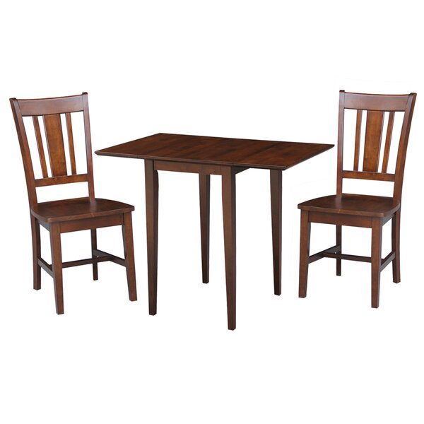 Banes 3 Piece Solid Wood Dining Set by Red Barrel Studio