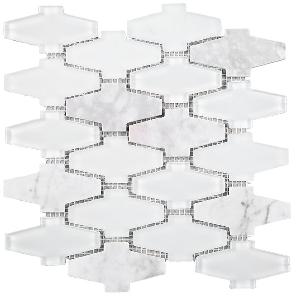 Crossroads 3 x 3 Mixed Material Tile in White by Multile
