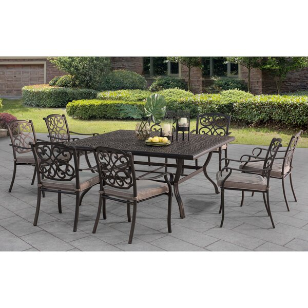 Tyrell Square 9 Piece Dining Set with Cushions