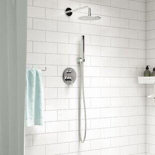 Compare & Buy Bustillos Diverter Complete Shower System with Metal Round Handle - Includes Rough-In Valve ByRebrilliant