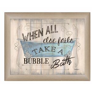 'Take a Bubble Bath' Framed Textual Art by Trendy Decor 4U