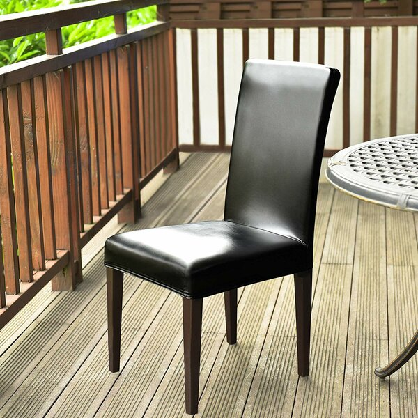 PU Leather Stretch Box Cushion Dining Chair Slipcover by Winston Porter