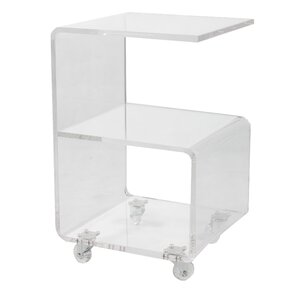 Caylee Acrylic G Shape End Table Part 77