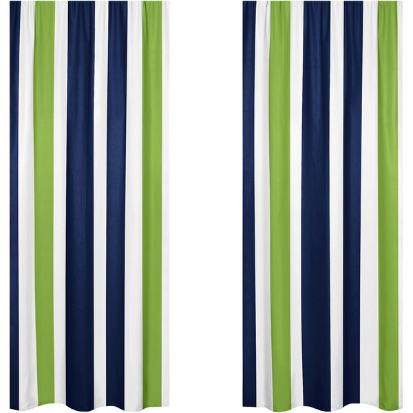 Striped Semi-Sheer Rod pocket Curtain Panels (Set of 2) by Sweet Jojo Designs