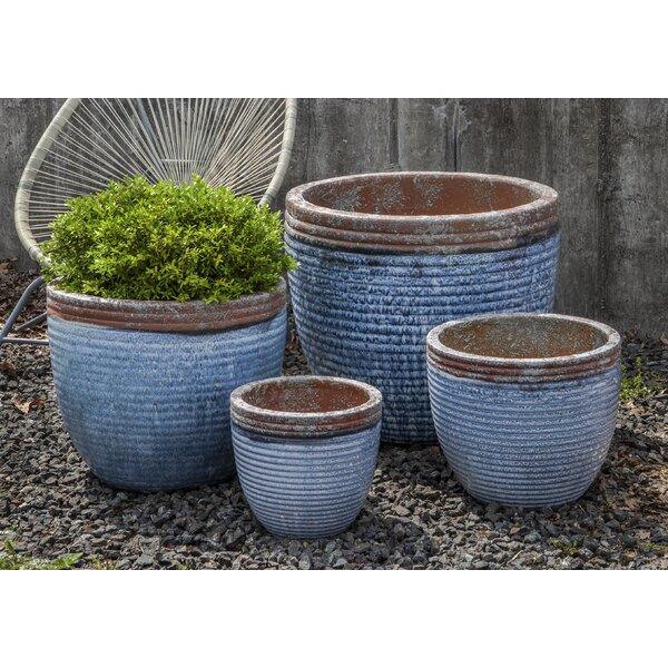 Davie 4-Piece Terracotta Pot Planter by Bungalow Rose