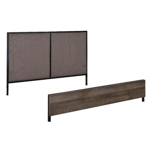 Tufo Queen Upholstered Panel Headboard and Footboard by Union Rustic