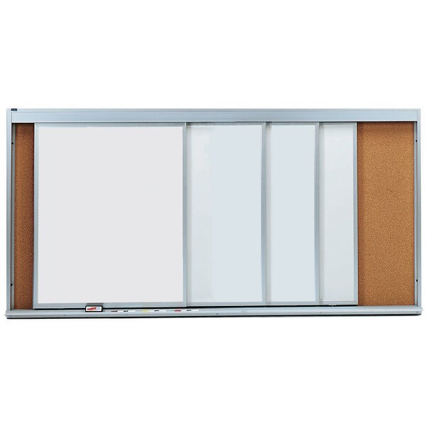 Horizontal Sliding Unit Whiteboard by AARCO