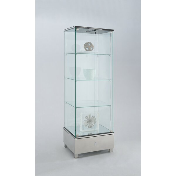 Tamas Glass Curio Cabinet by Orren Ellis