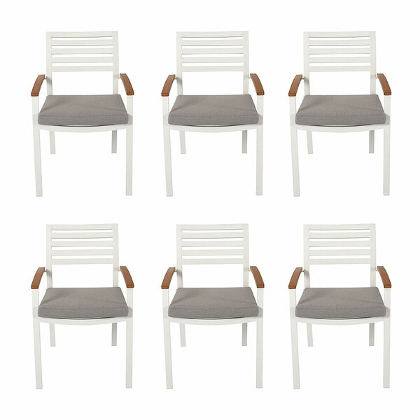 Ingiara Patio Dining Chair With Cushion by Latitude Run Latitude Run