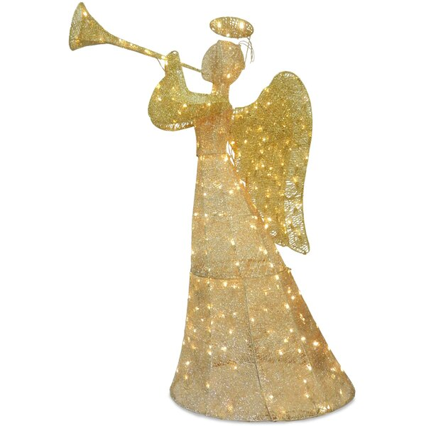 Angel with LED Lights Christmas Decoration by The Holiday Aisle