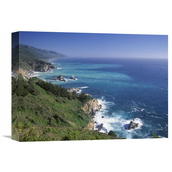 Nature Photographs Big Sur Coast From Near Grimes Point, California by Tim Fitzharris Photographic Print on Wrapped Canvas by Global Gallery