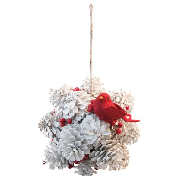 Pinecone and Cardinal Kissing Ball Swag by The Holiday Aisle