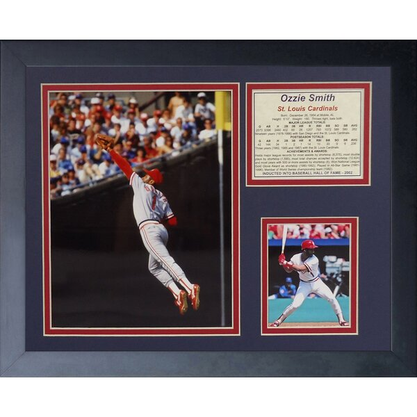 Ozzie Smith Framed Photographic Print by Legends Never Die