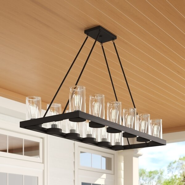 Mount Vernon 12-Light Outdoor Chandelier by Laurel Foundry Modern Farmhouse