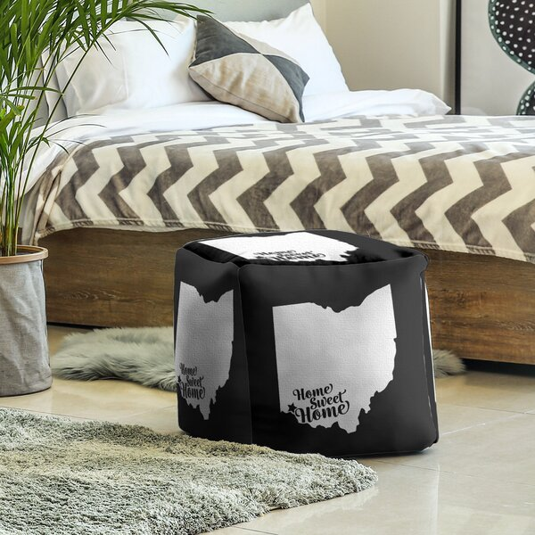 Home Sweet Cincinnati Cube Ottoman by East Urban Home East Urban Home