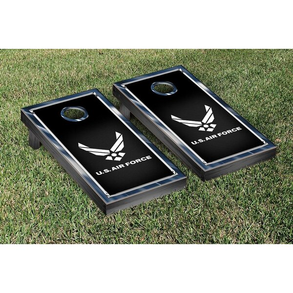 NCAA US Air Force Chrome Version Cornhole Game Set by Victory Tailgate