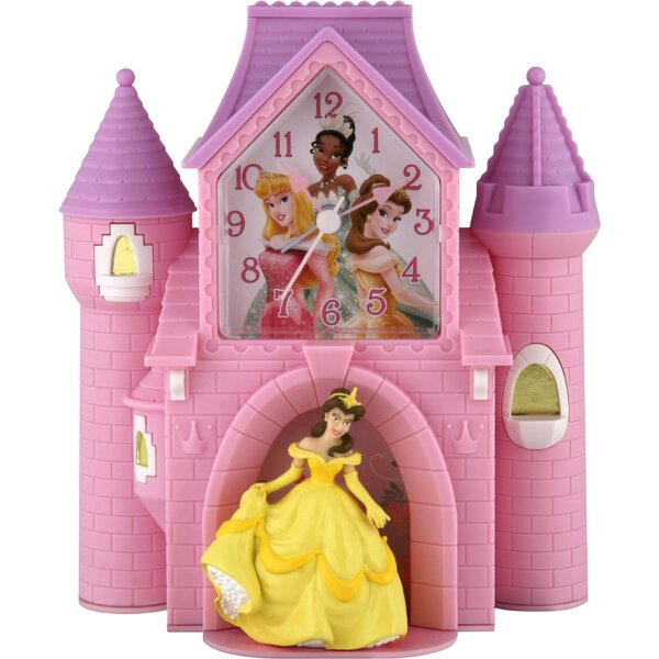 Princess Castle Quartz Analog Bank Alarm Clock by Ashton Sutton