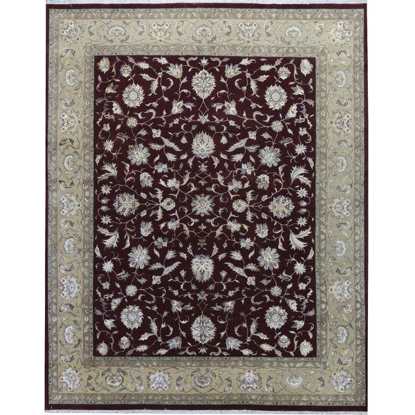 One-of-a-Kind Walton Hand-Knotted Brown/Red 11'11 x 14'11 Wool Area Rug