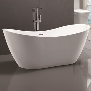71 x 31.5 Freestanding Soaking Bathtub