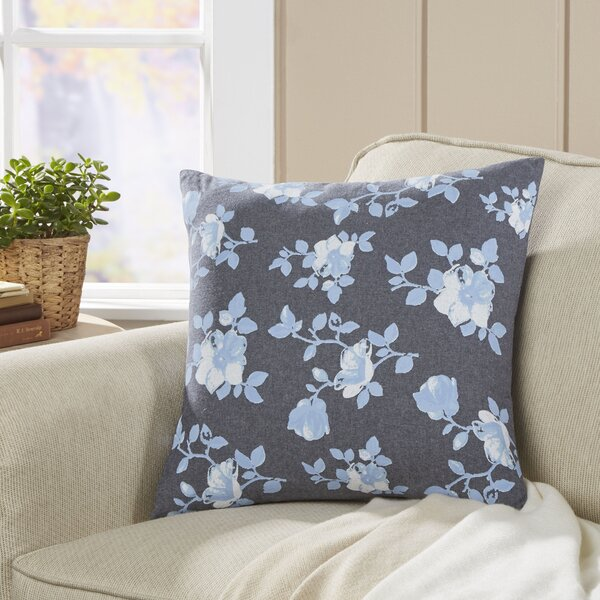 Floral Seabury Chambray Pillow Cover by Birch Lane™