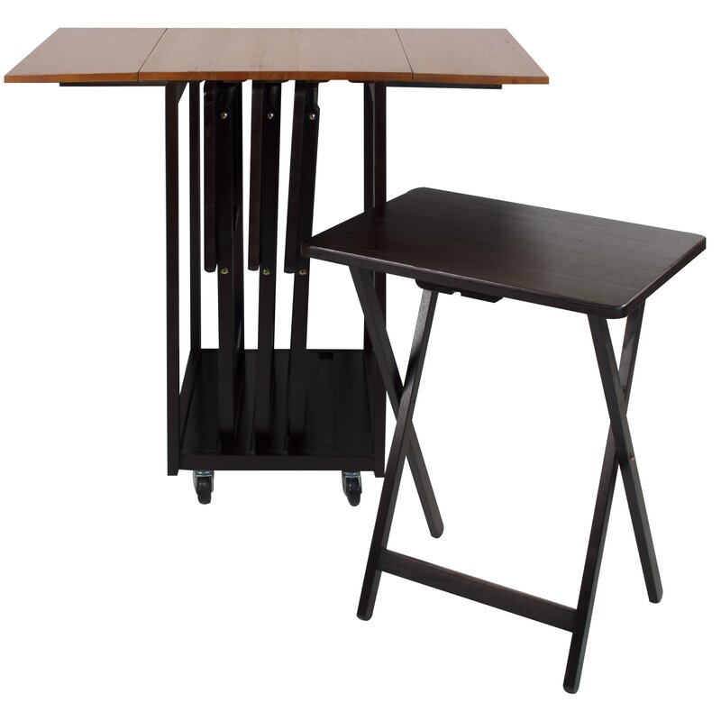 Mclachlan Drop Leaf Table With Tv Tray Set