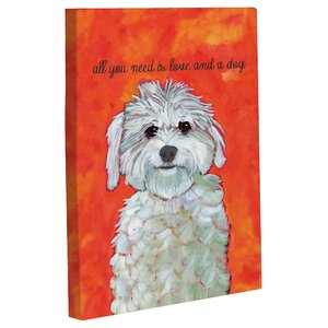 'Love and A Dog' Painting Print on Canvas by Andover Mills