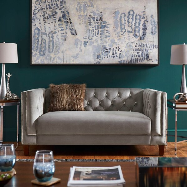 Special Orders Glassman Loveseat Back, Seat Frame & Cushion by Mercer41 by Mercer41