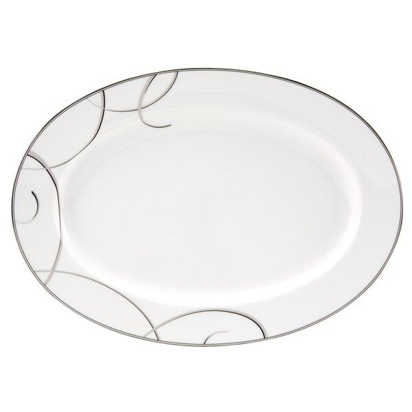 Elegant Swirl Platter by Nikko Ceramics