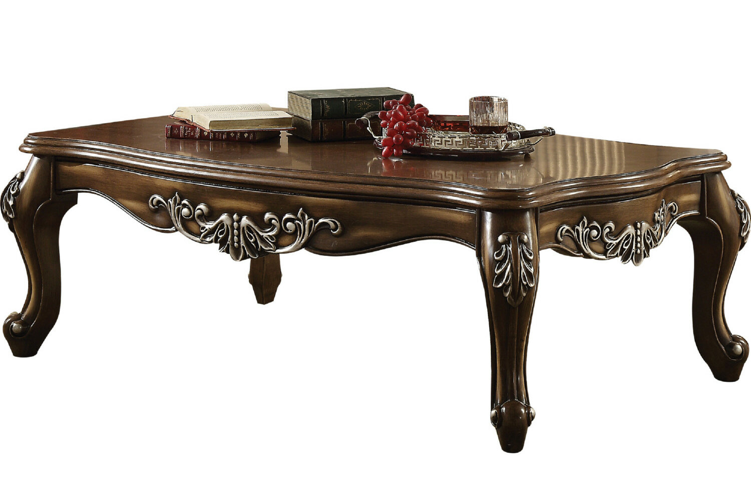 Astoria Grand Jayla Intricately Carved Wooden Coffee Table Wayfair
