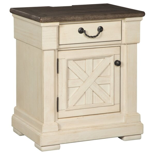 Ramsgate 1 Drawer Nightstand by Three Posts