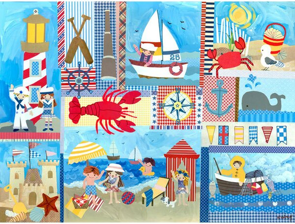 Seaside Playtime Canvas Art by Oopsy Daisy