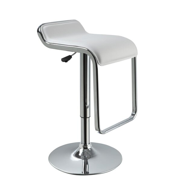 Clower Low Back Adjustable Height Upholstered Swivel Bar Stool by Orren Ellis