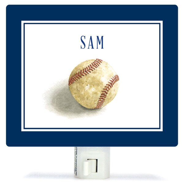 Personalized Sports and Games Game Ball Canvas Night Light by Oopsy Daisy