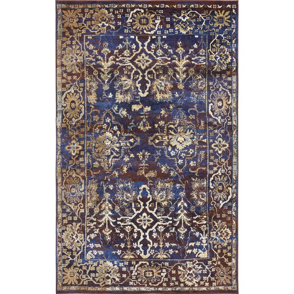 Rennick Beige/Red/Dark Blue Area Rug by Darby Home Co
