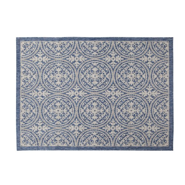 Sudbury Navy/Gray Indoor/Outdoor Area Rug by Winston Porter