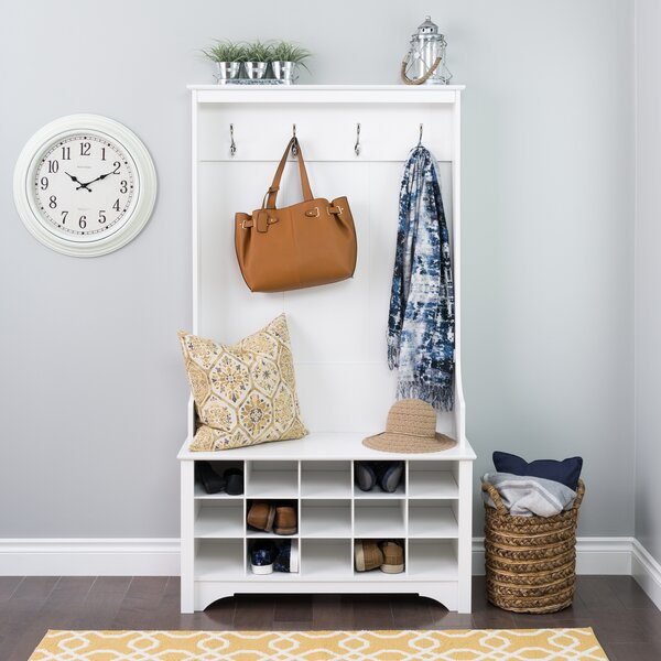 Flatiron Hall Tree with Shoe Storage by Charlton Home