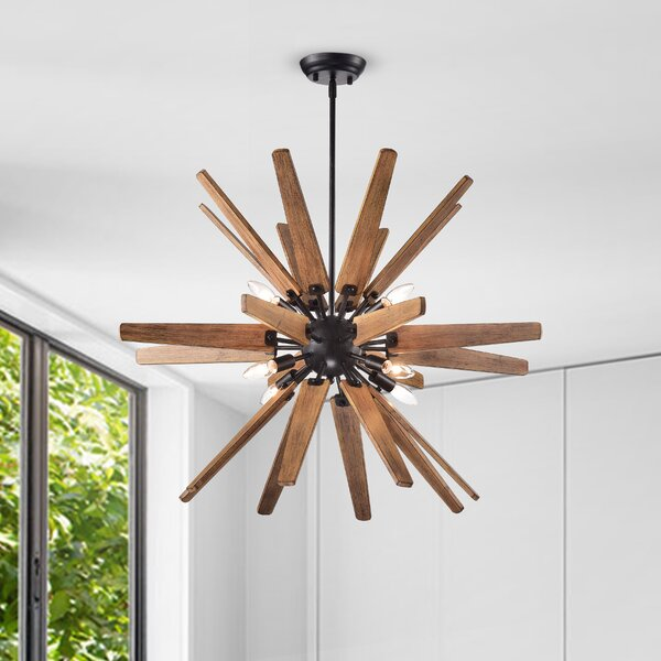 Rachael 8 - Light Sputnik Sphere Chandelier with Wrought Iron Accents by Union Rustic Union Rustic
