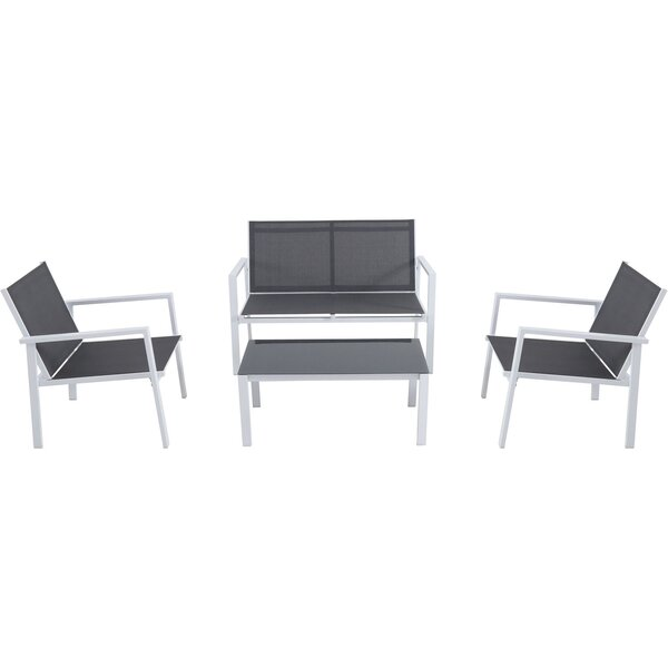 Ashwell 4 Piece Sofa Seating Group by Sol 72 Outdoor