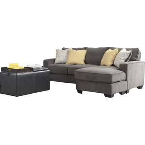 Harriett 93  Reversible Chaise Sectional  sc 1 st  Joss u0026 Main : gray sectional sofa with chaise - Sectionals, Sofas & Couches