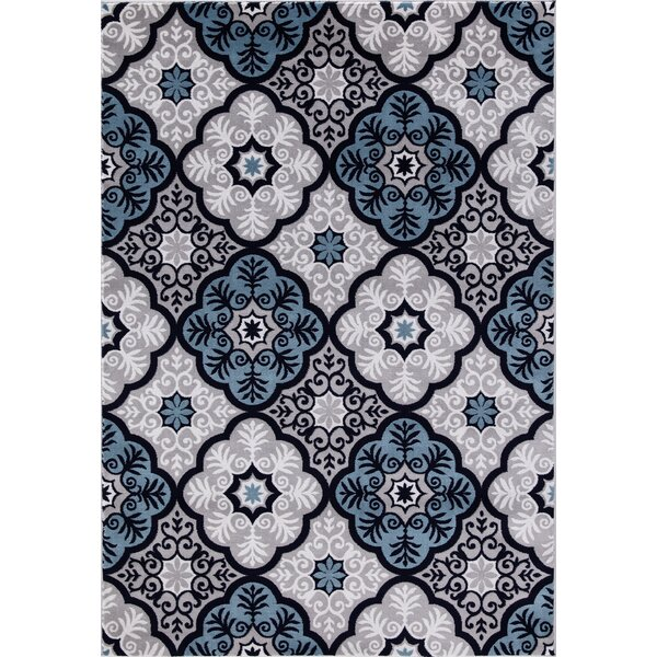 Javier Beautifully Contemporary Blue/Gray Area Rug by Winston Porter