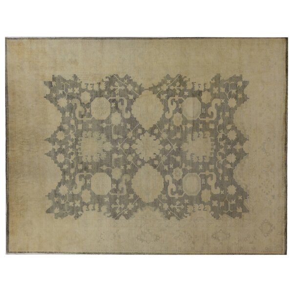 Oushak Hand Knotted Wool Blue/Gray Area Rug by Exquisite Rugs