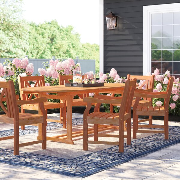 Amabel Patio 7 Piece Dining Set by Beachcrest Home